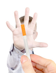 Teenager refuses from Cigarette