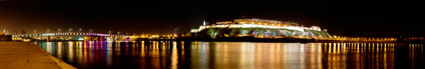 panorama of Petrovaradin Fortress in Novi Sad, Serbia