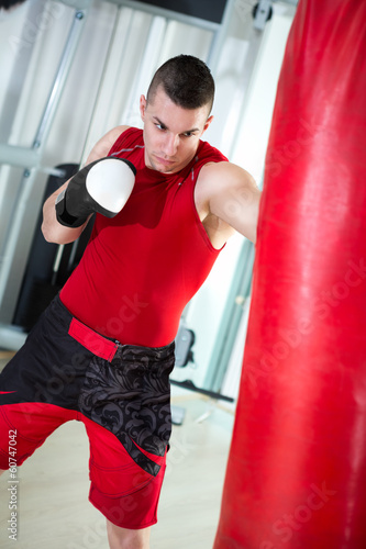 boxer punching bag