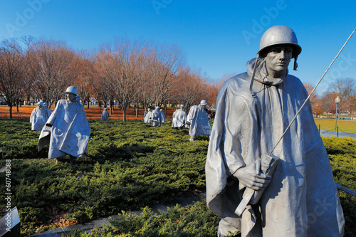 The Korean War Veterans Memorial in Washington DC, USA