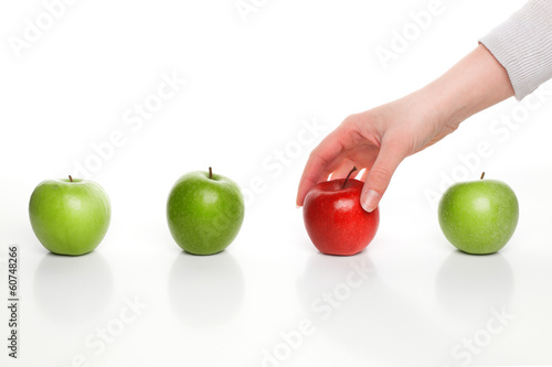 Picking different apple
