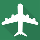 Plane, airplane icon