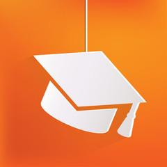 Academic cap icon. Study cap symbol