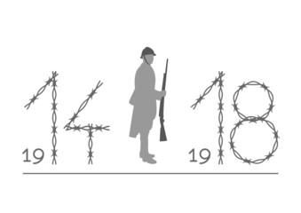 Centenaire guerre 14-18 - barbelé