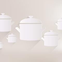 Kitchen pan icon