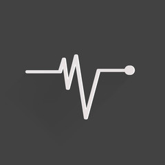 Heart beat, cardiogramm. Pulse icon