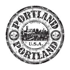 Portland grunge rubber stamp