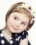 Beautiful little girl with headband