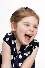 Laughing little girl