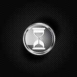 Sand clock icon. Glass timer symbol