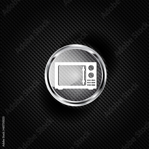microwave icon. kitchen equipment