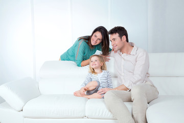 family looks happy