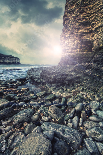 rugged coast sun