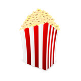 box of popcorn isolated on white background.popcorn icon.vector