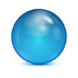 blue glass bowl isolated on white background.shiny sphere.vector - 60752052