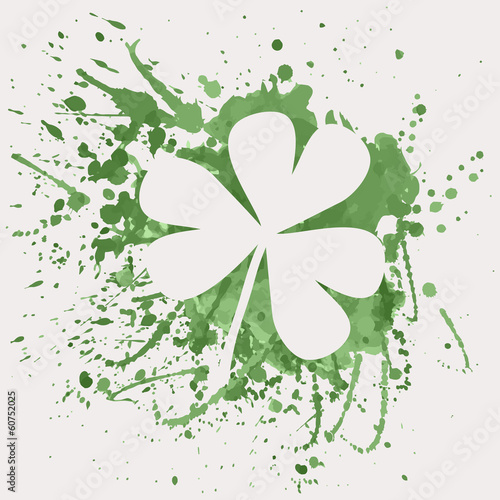 Vector illustration of shamrock for St. Patrick's Day