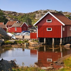 Norway - fishing village in Skjernoy island
