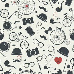 Hipster seamless pattern