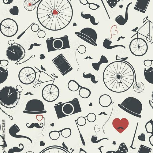 Hipster seamless pattern © olgash_i