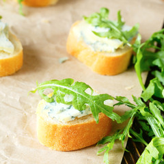 canapes with blue cheese for breakfast