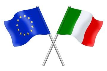Bandiere: Europa ed Italia
