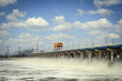 Reset of water at hydroelectric power station on the river - 60755475