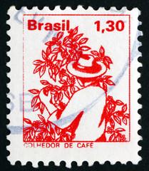 Postage stamp Brazil 1977 Coffee Picker