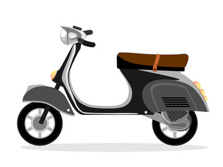 Motorcycle scooter on a white background, vector