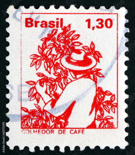 Postage stamp Brazil 1977 Coffee Picker