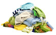 canvas print picture - A pile of clothes on white background