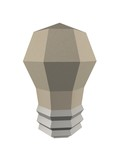 paper ecologic light bulb 3d concept illustration