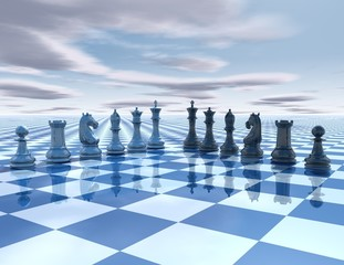 chess surreal background