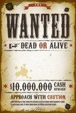 Fototapety Wanted Vintage Western Poster