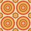 Colorful seamless pattern with round elements
