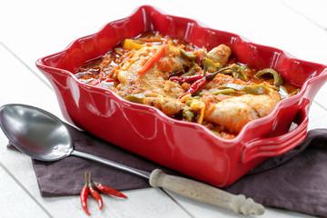 poulet basquaise en plat 1
