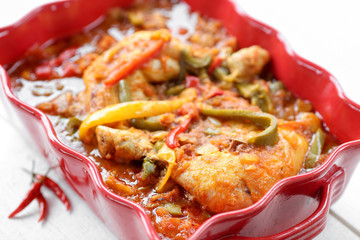 poulet basquaise en plat 6