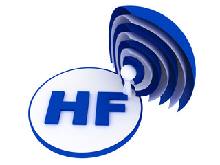 HF (High frequency) range sign