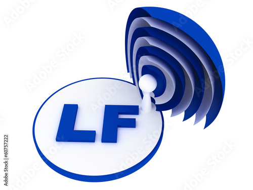 LF (low frequency) range sign