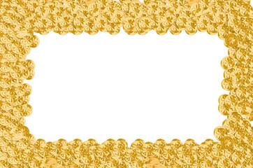 Frame of golden St. Payrick's coins