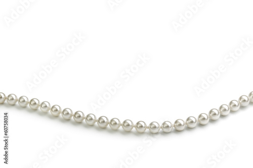 Leinwandbild Motiv Chain of white pearls