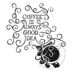 Coffee is always good idea - on whiteboard