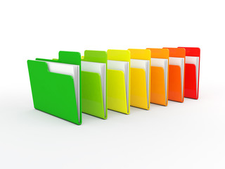 3d colorful folders