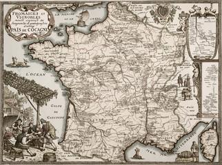 Alte französische Weinkarte-2