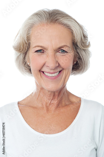 Portrait of a happy senior lady