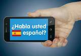 Fototapety Habla usted español? Móvil
