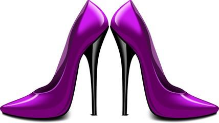 Лиловые туфли, вектор