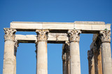 Columns of greek ancient temple