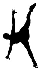 Silhouette of Figure Skater