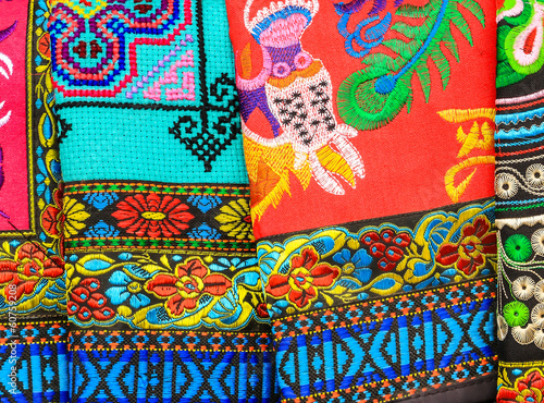 Pattern of Local Colorful Clothes