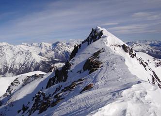 Sommet est (3040 m) du Mont Fallère (en hiver) - Vallée d'Aoste